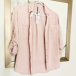 NWT! From EXPRESS: Beautiful, blush, blouse